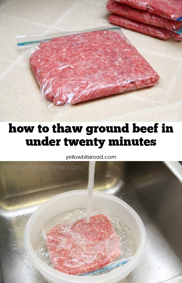 How to quickly thaw ground beef yellow bliss road for What meals can i make with ground beef