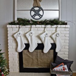 Christmas mantel front