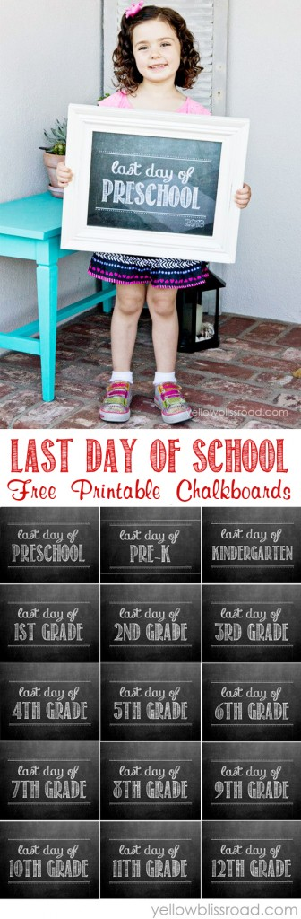 Free Printables for the Last Day of School - Preschool & Pre-K through High School!
