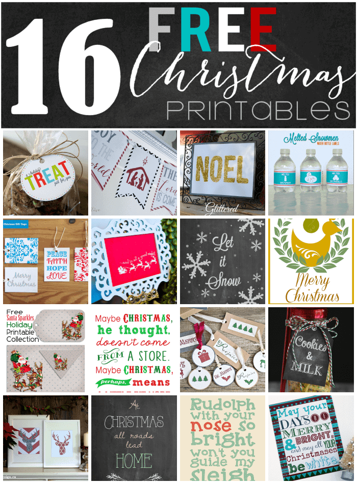 16 Brand New Christmas Printables!