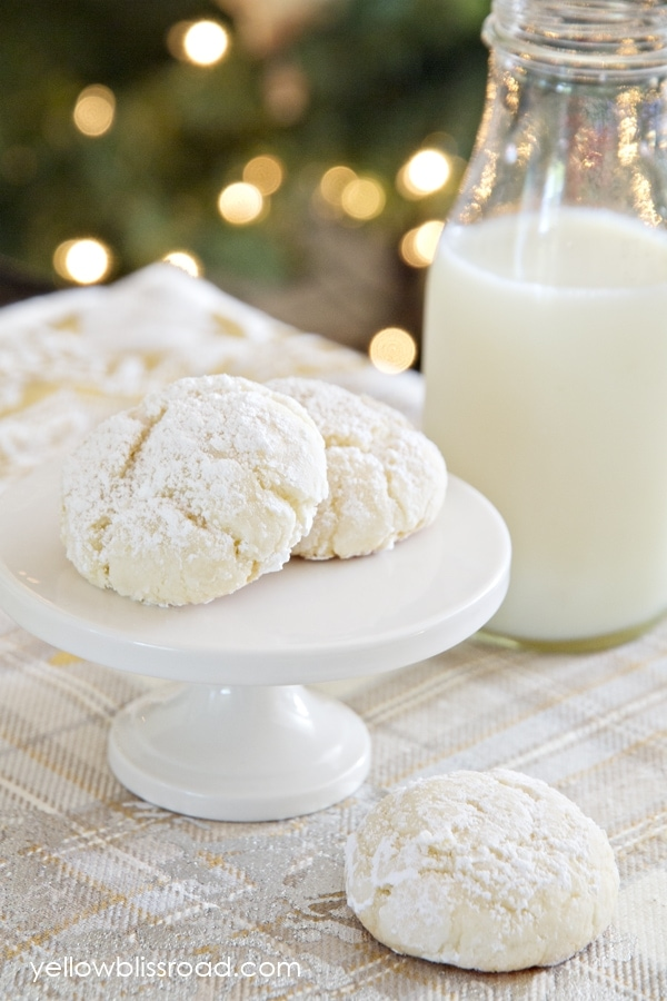 Nut-Free Snowball Cookies made with Cake Mix