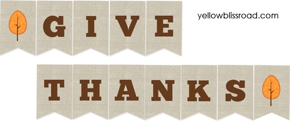 Revered image for give thanks banner printable