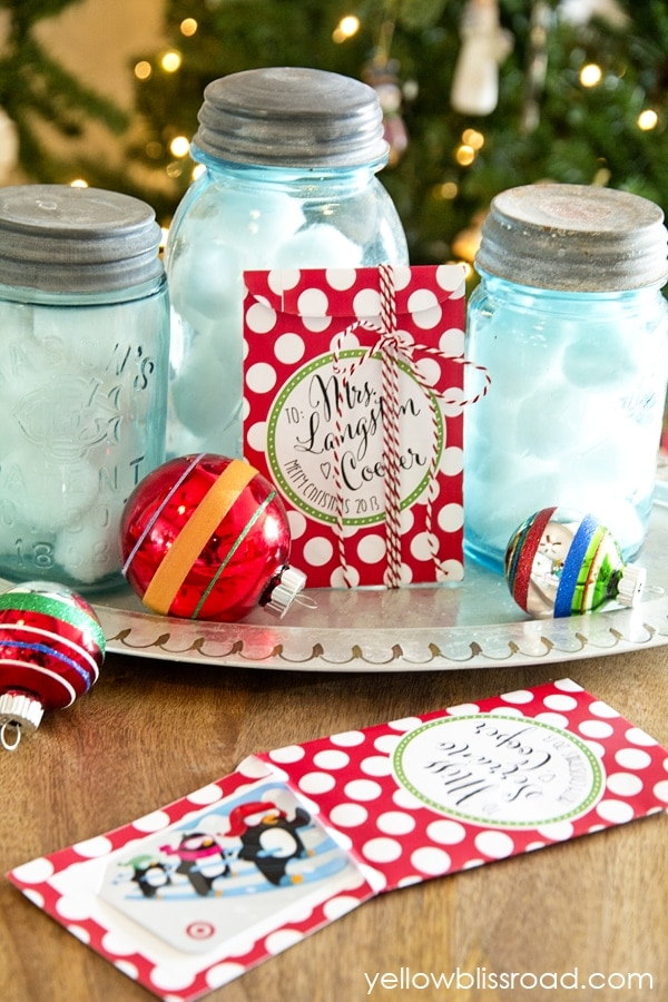 DIY Christmas Gift Card Envelopes