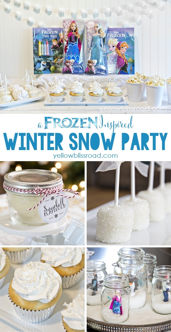 FROZEN Inspired Snow Party Collage #cbias #frozenfun #shop