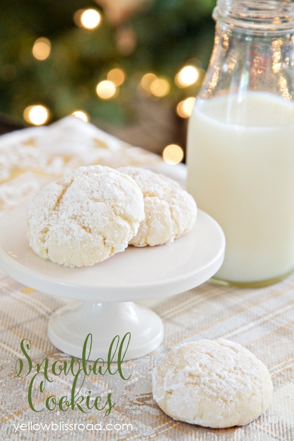 Snowball Cookies - Nut Free and Made with Cake Mix!