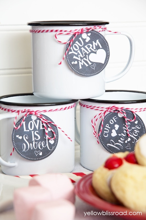 Valentines Hot Chocolate Bar Free Printable Drink Tags