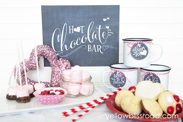 Valentines Hot Chocolate Bar
