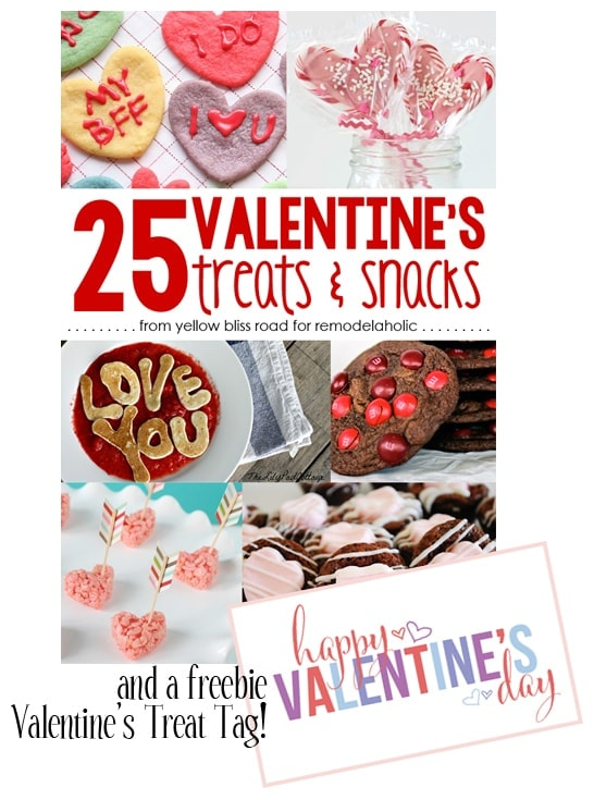 Valentines Treat Round Up and free printable