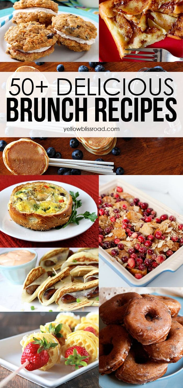 50 delicious brunch recipes yellow bliss road