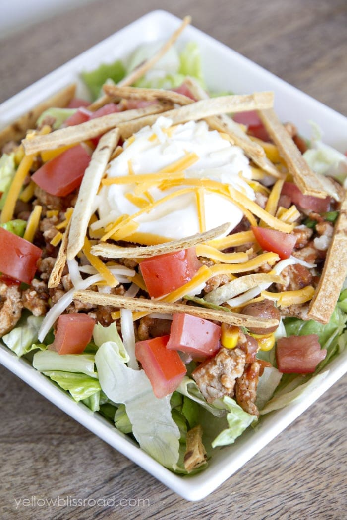 Easy and Healthy Taco Salad 2