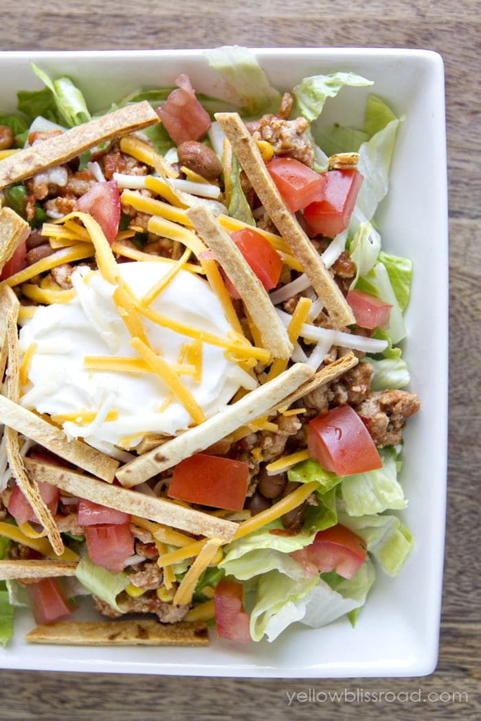 Easy and Healthy Taco Salad