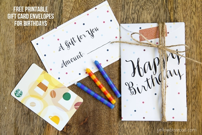 Free Printable Gift Card Envelopes for Birthdays 2