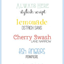 Fun Font Combinations for Summer