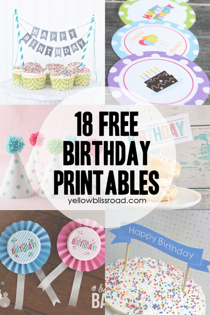 This is a picture of Adaptable Birthday Cake Printable