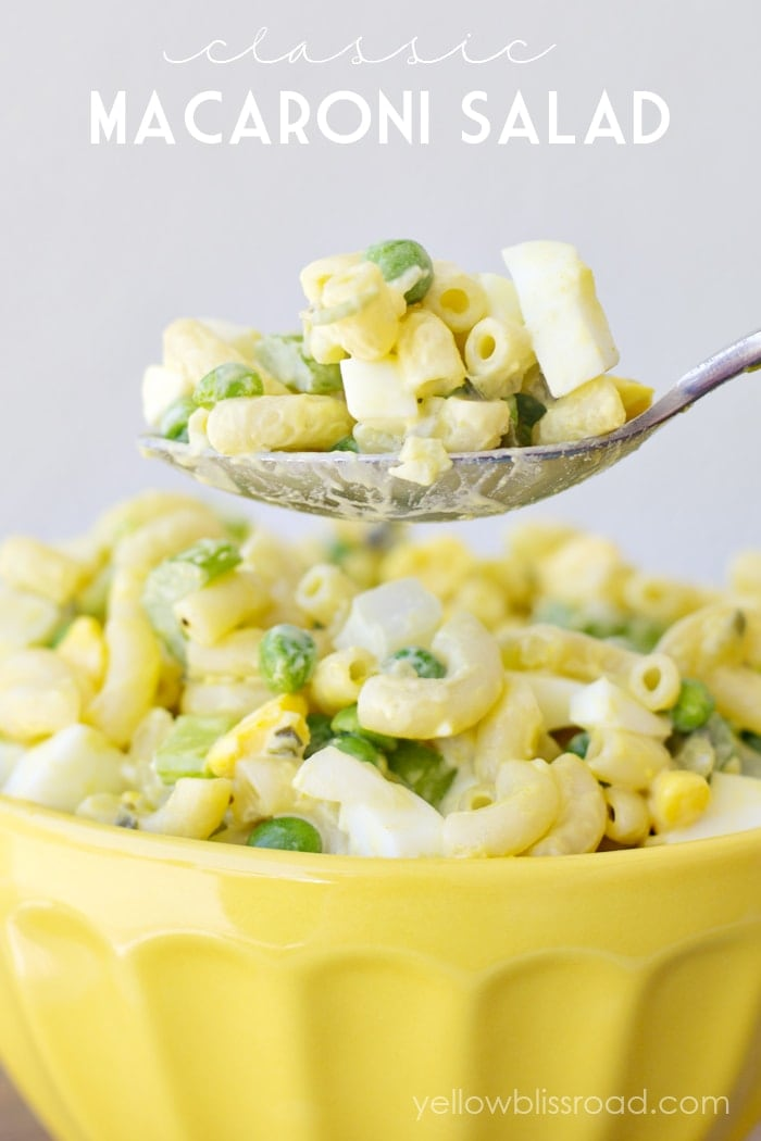 This Classic Macaroni Salad is a hit at parties, BBQs and with adults ...