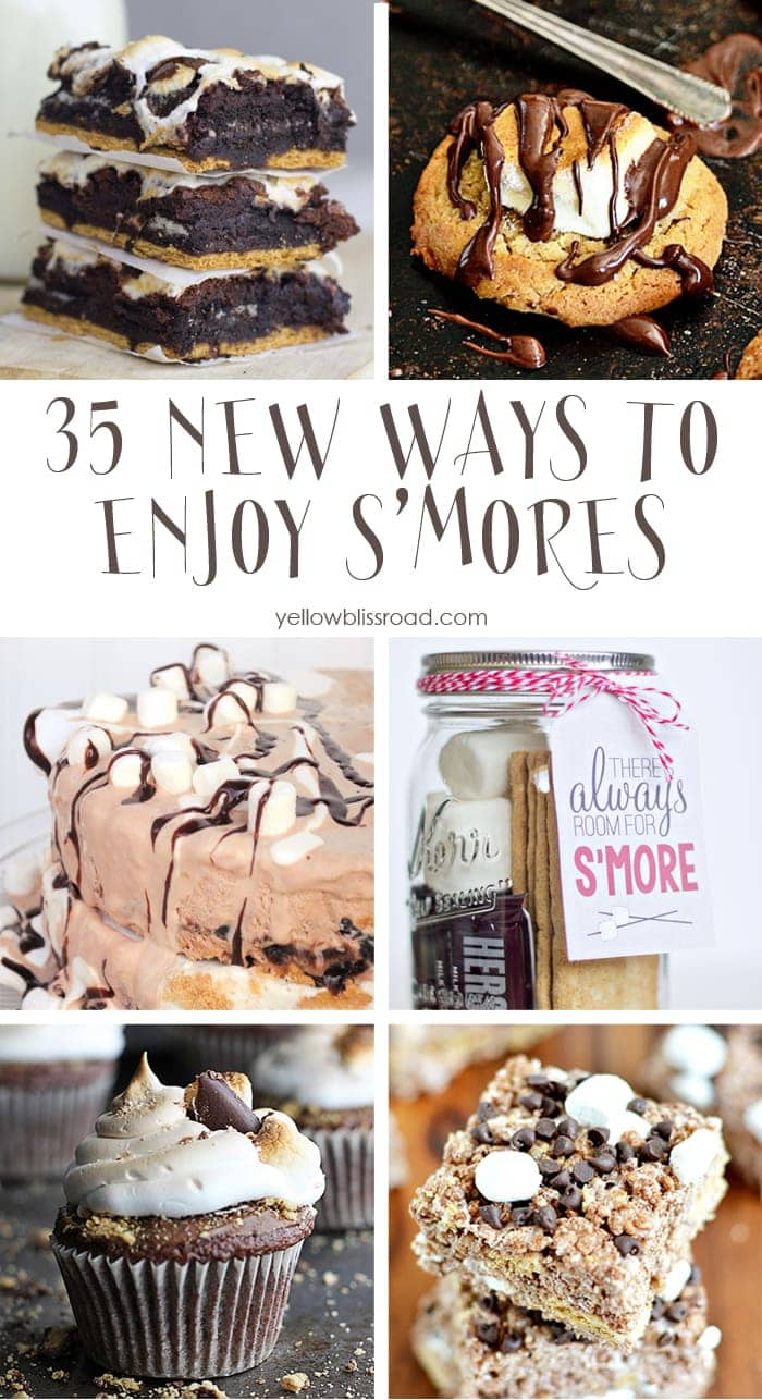 35 New Ways to Enjoy S'Mores - Try one out on National S'Mores Day August 10!