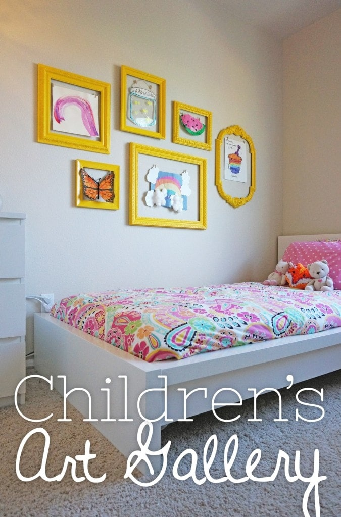 Diy children 39 s art gallery for Room and board kids