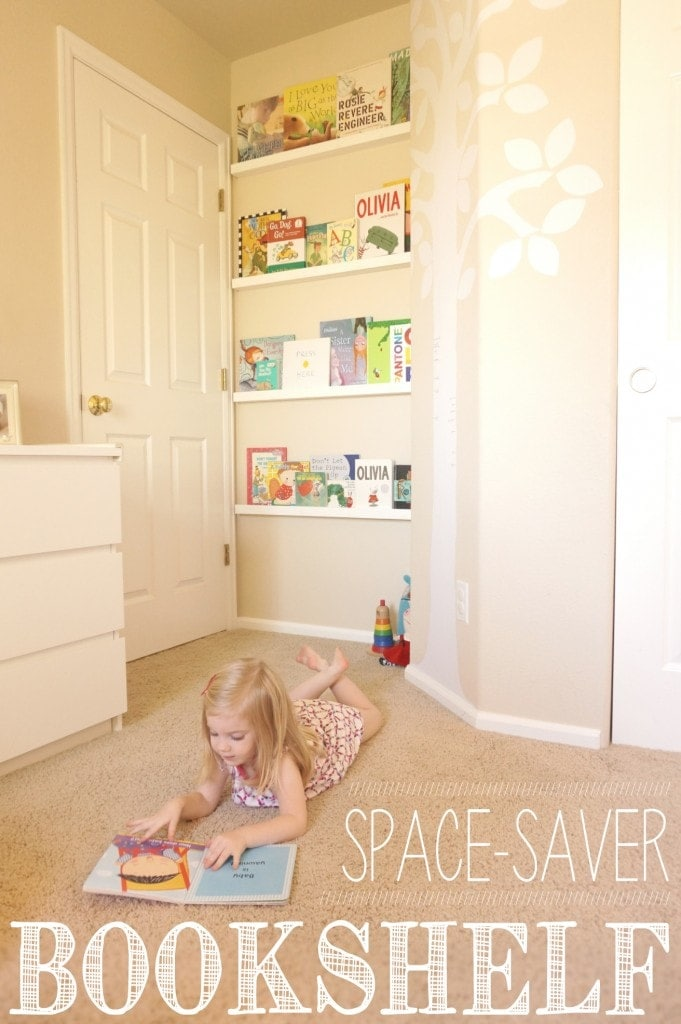 Diy space saver bookshelf yellow bliss road - Children bedroom ideas small spaces model ...