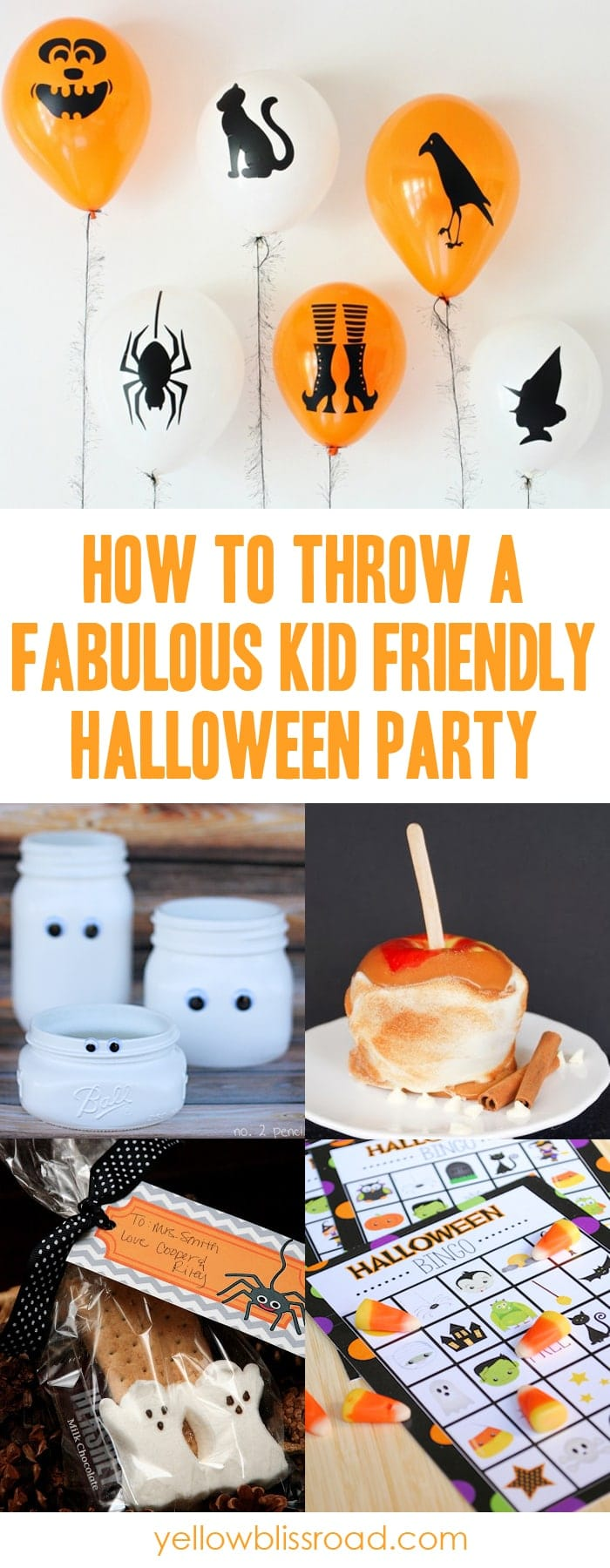 How to throw a great kids halloween party yellow bliss road for How to have a great halloween party