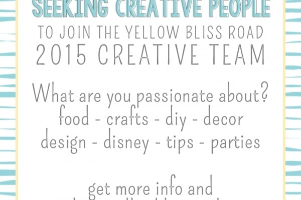 Now accepting applications for the 2015 Creative Team!!