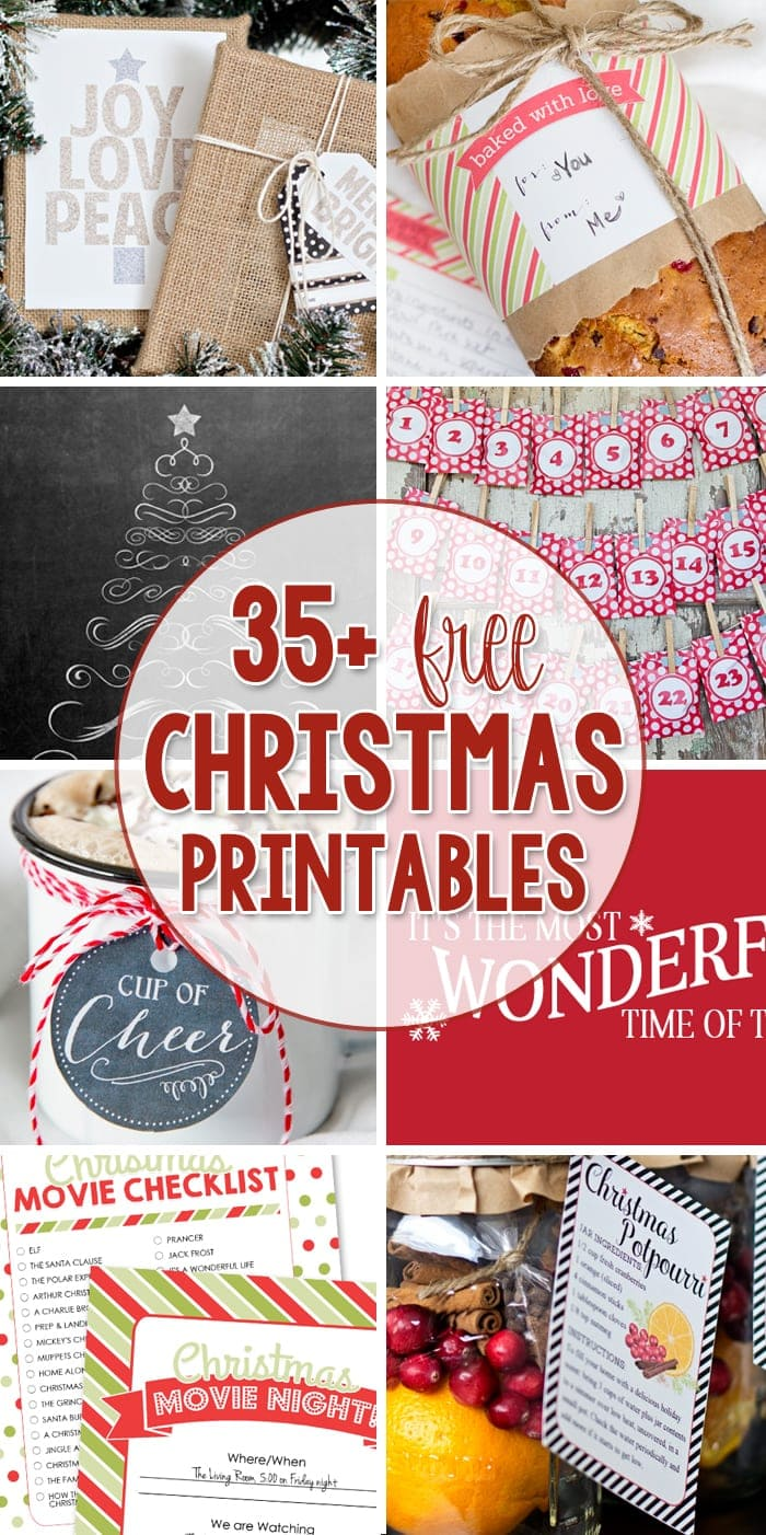 Free Christmas Printables For Decorating A Room