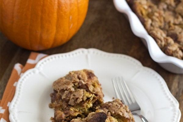 Pumpkin Pie Baked French Toast