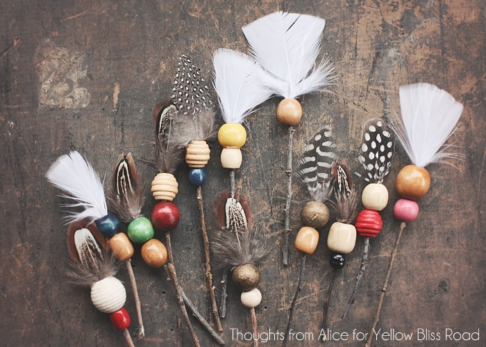 Beaded Rustic Twig Arrows