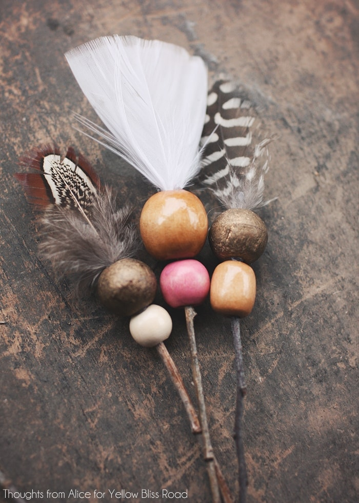 Bohemian Twig Arrow Christmas Ornaments