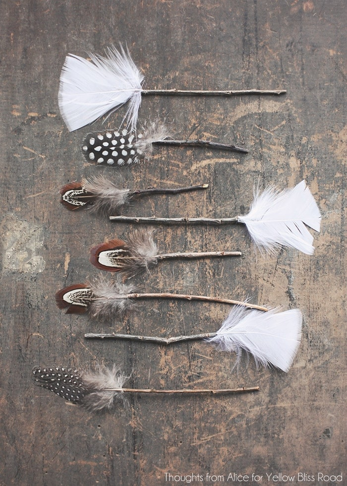 Feather and Twig Arrows DIY