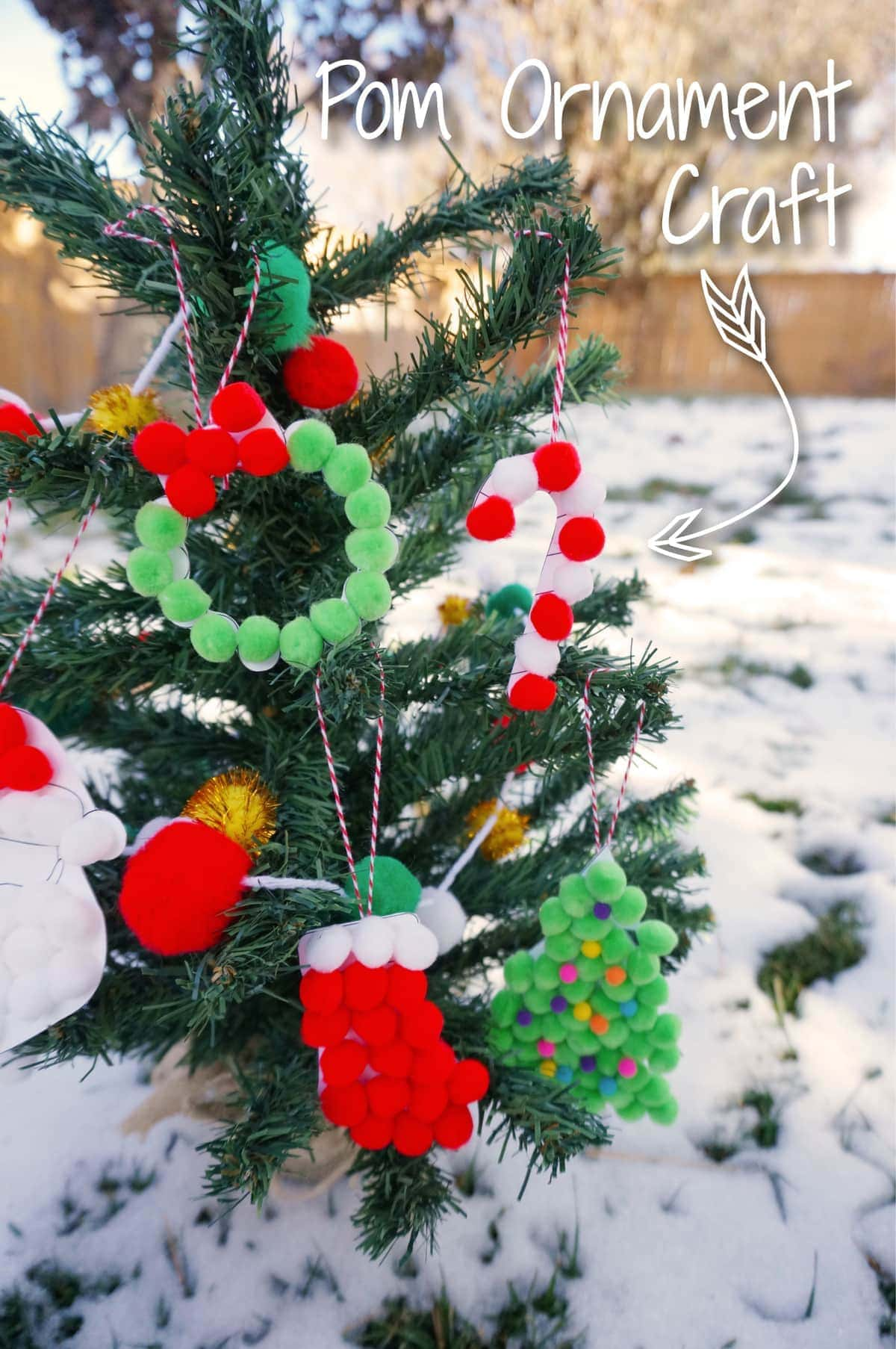 Diy christmas ornaments for kids with free printable for How to make christmas decorations to sell
