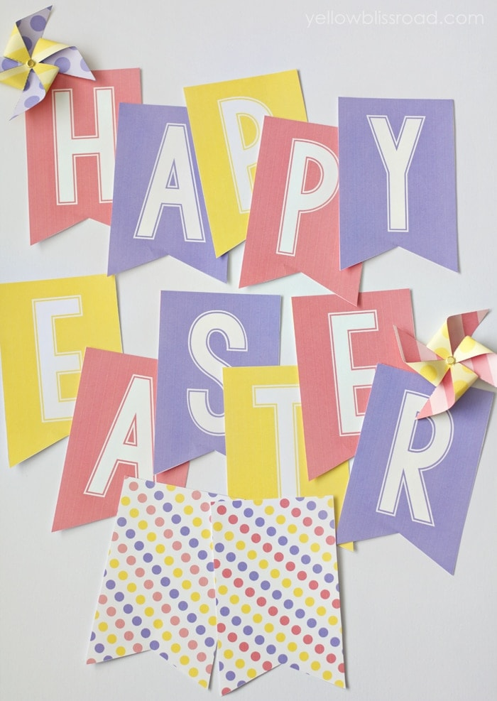 Simplicity image in happy easter banner printable