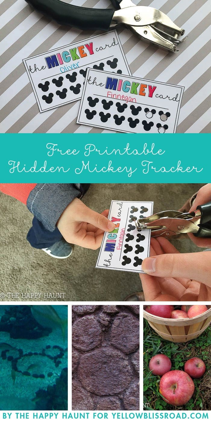Hidden Mickey Tracker Free Printable Fun For The Whole