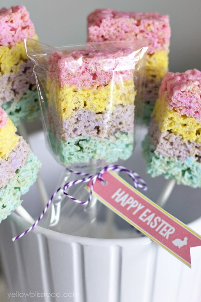 ... and look adorable attached to my layered Peeps Rice Krispie Treats