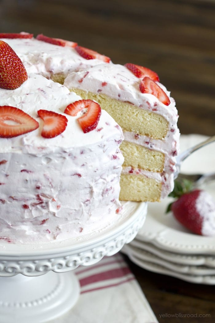 Strawberry And Vanilla Birthday Cake