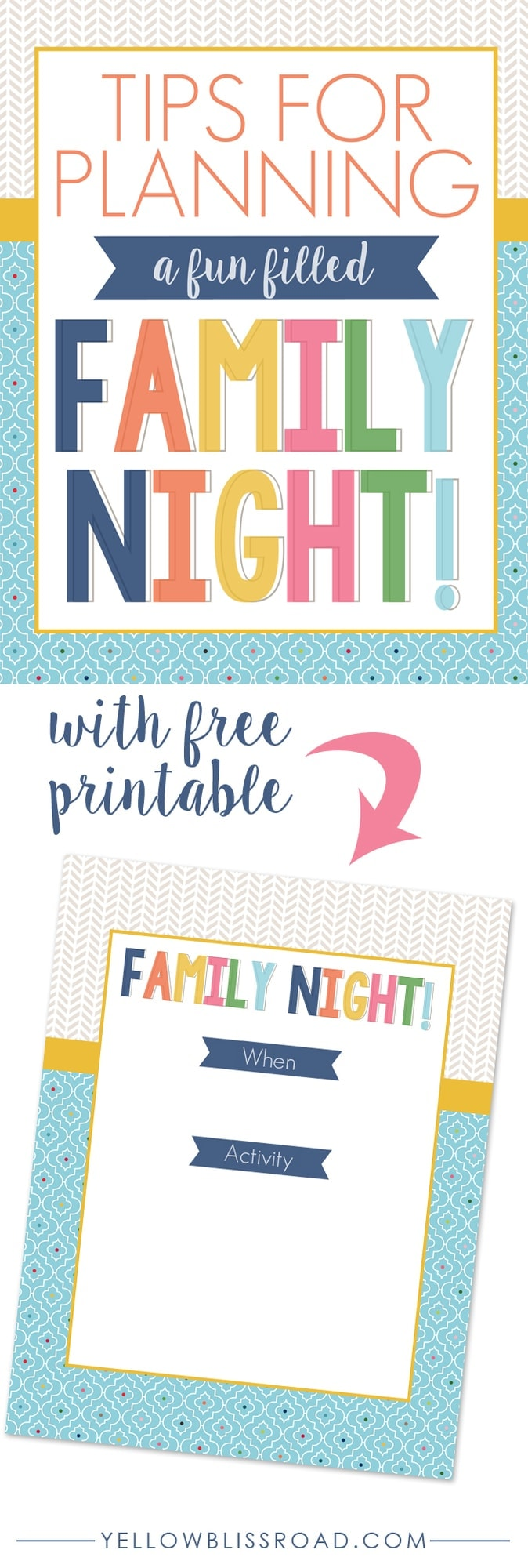 Tips for Planning a Fun Filled Family Night - Yellow Bliss ...