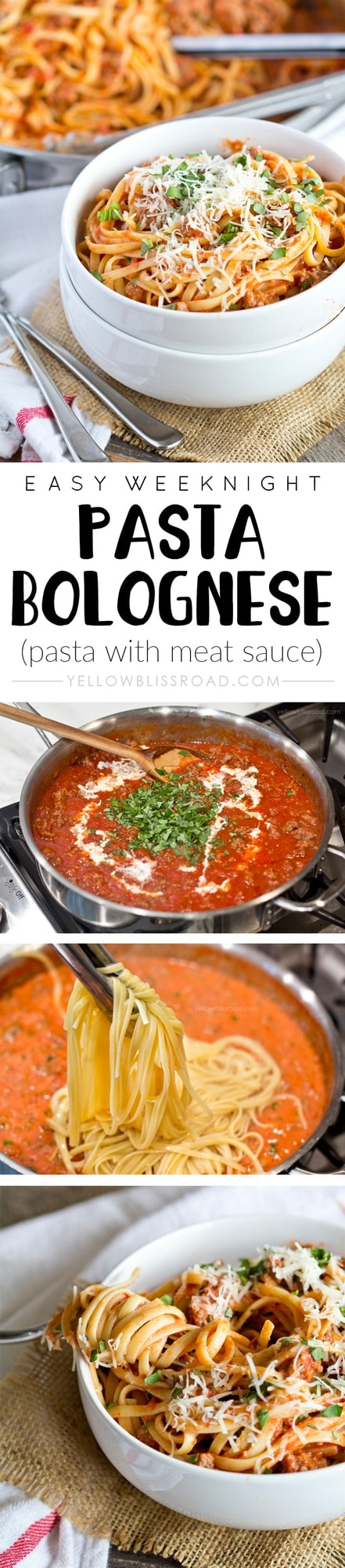 Easy Weeknight Pasta Bolognese - Perfect for busy weeknights and ready ...