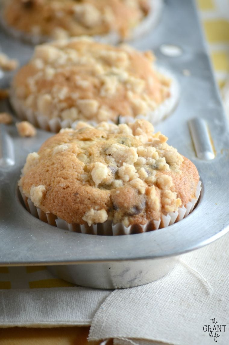 Bakery Style Chocolate Chip Muffins - Yellow Bliss Road