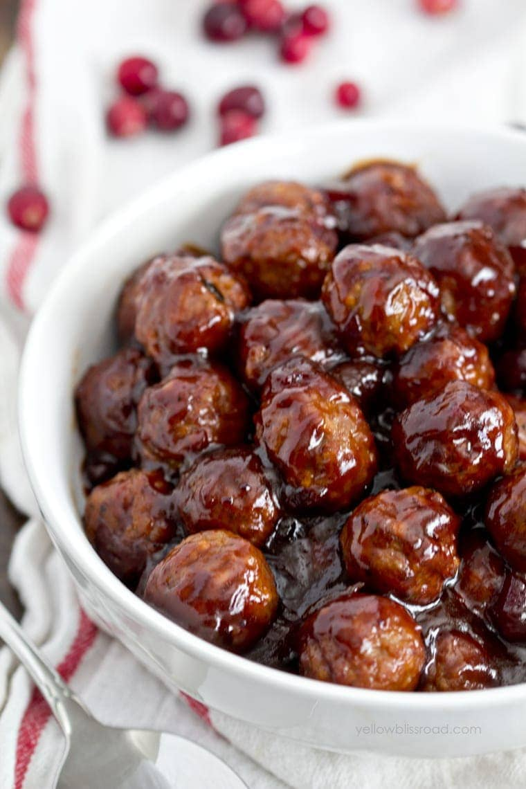Cranberry Barbecue Meatballs Appetizer