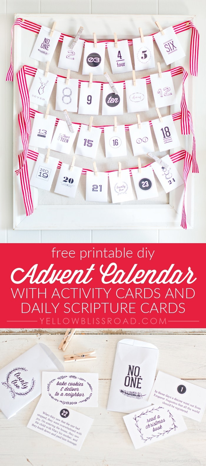 Diy Calendar For Kindergarten : Diy advent calendar with activities and scripture yellow