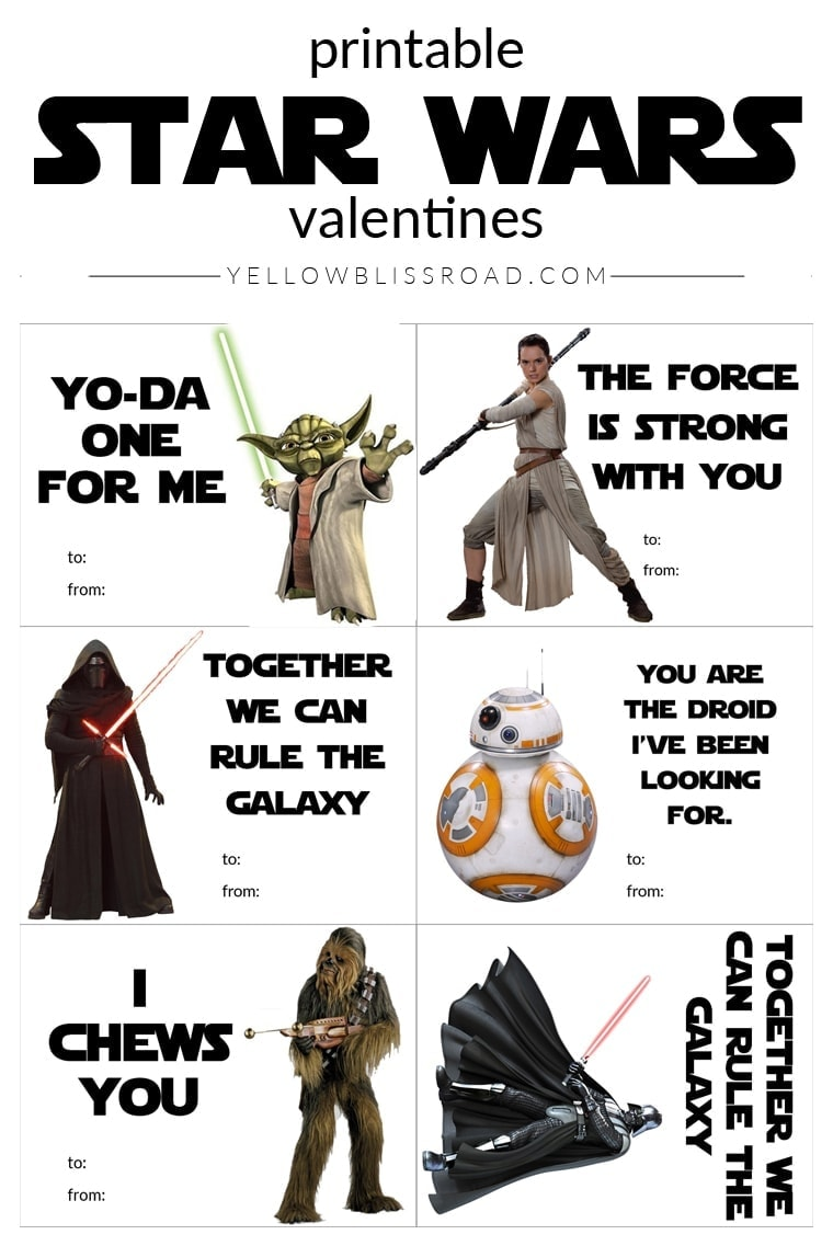 It is an image of Adorable Star Wars Printable Cards