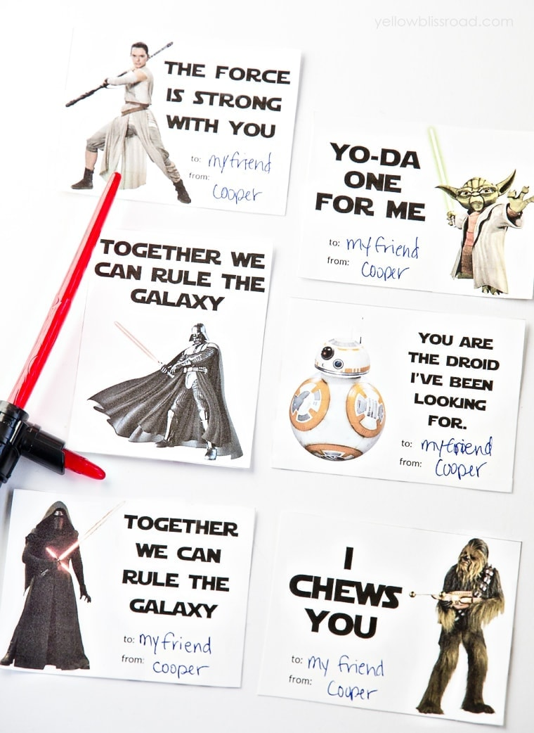It is a graphic of Zany Star Wars Printable Cards