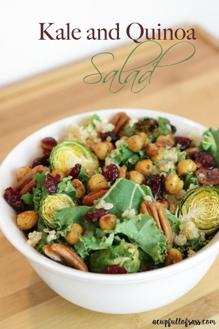 Kale Quinoa Salad - a healthy and delicious salad made with roasted ...