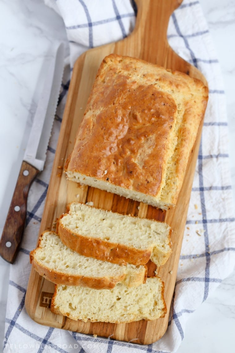Garlic Parmesan & Herb Quick Bread {Yellow Bliss Road}