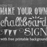 How to Make Your Own Printable Chalkboard Sign