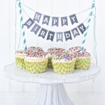 Printable Chalkboard Letters Cake Bunting