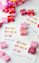 Printable Starburst Valentine Cards
